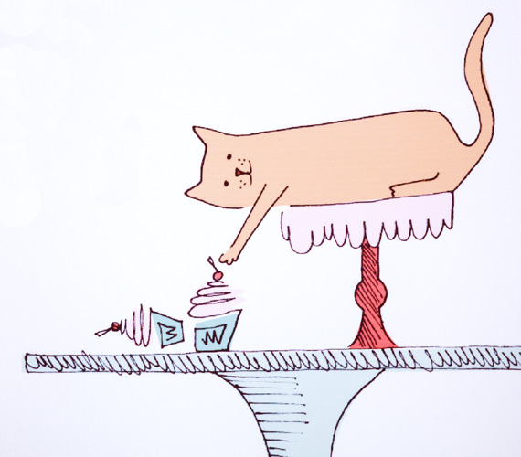 Clever-Cat-Menu-Illustration-Detail