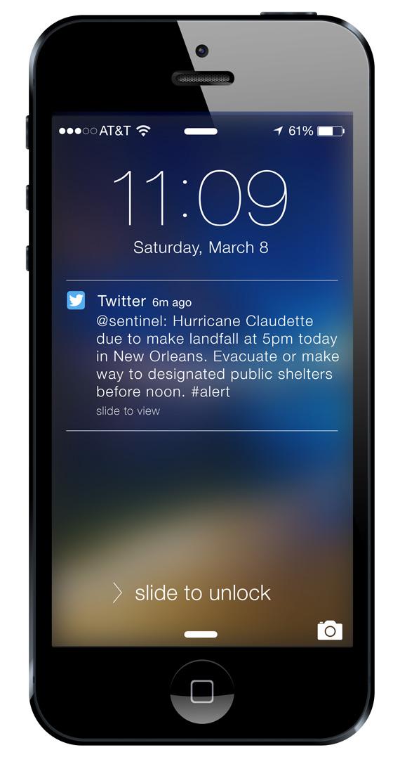 Sentinel-Twitter-Push-Notification