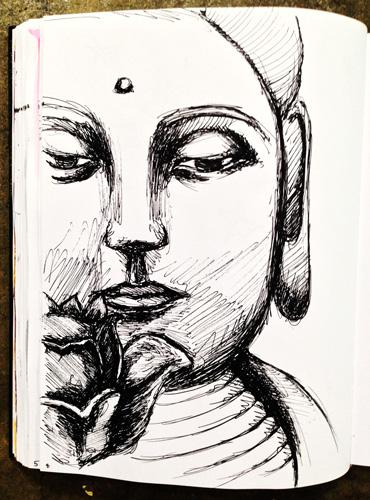 Sketchbook-Buddha